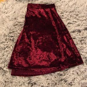 EXPRESS Velvet Maroon skirt